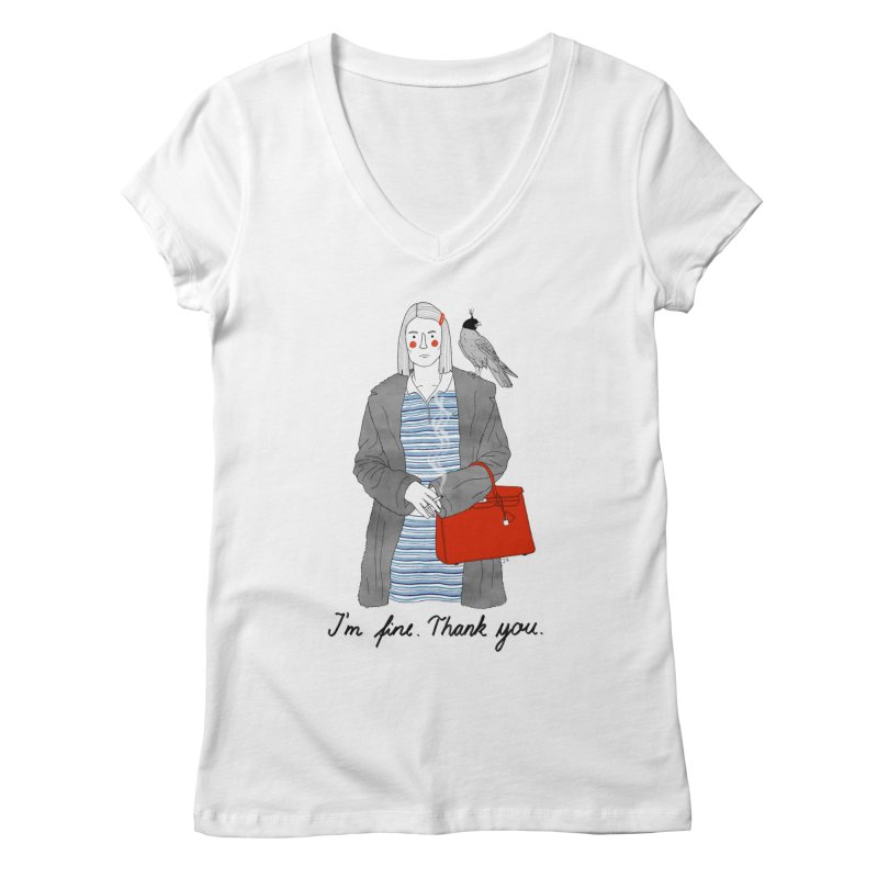Margot Tenenbaum Women's V-Neck by juliabernhard's Artist Shop