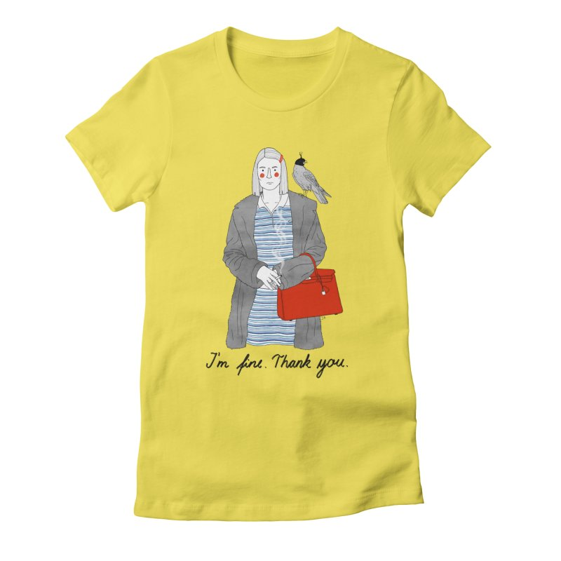 Margot Tenenbaum Women's Fitted T-Shirt by juliabernhard's Artist Shop