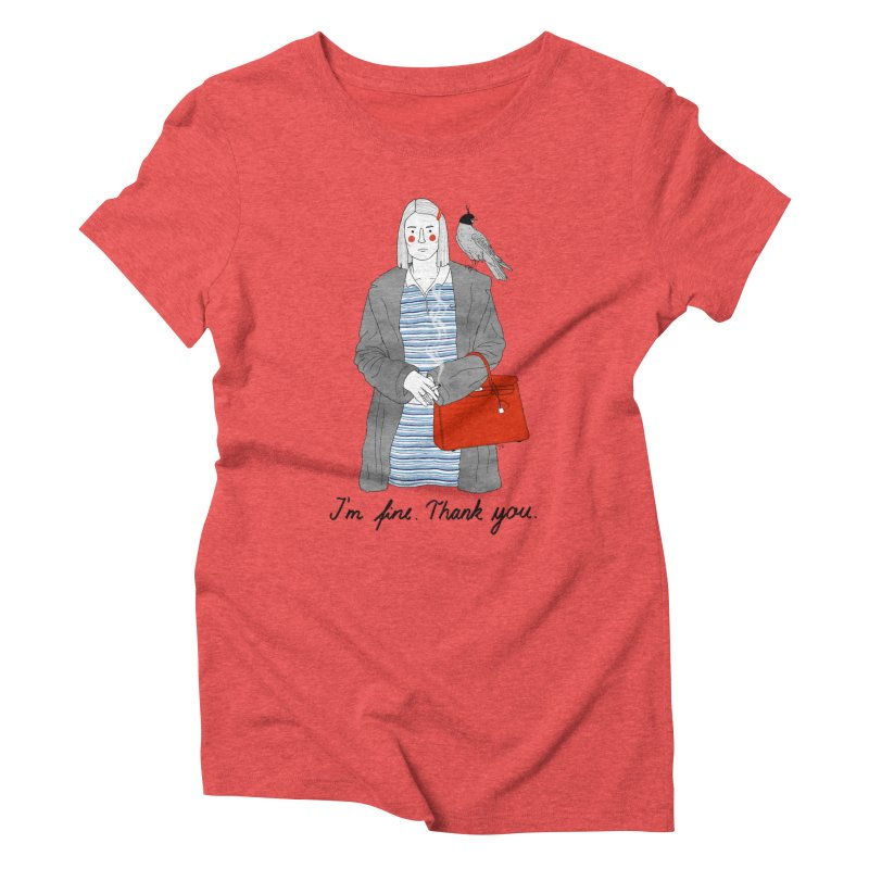 Margot Tenenbaum Women's Triblend T-Shirt by juliabernhard's Artist Shop