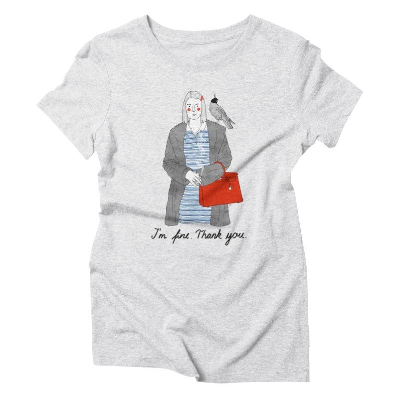 Margot Tenenbaum Women's Triblend T-Shirt by juliabernhard's Artist Shop