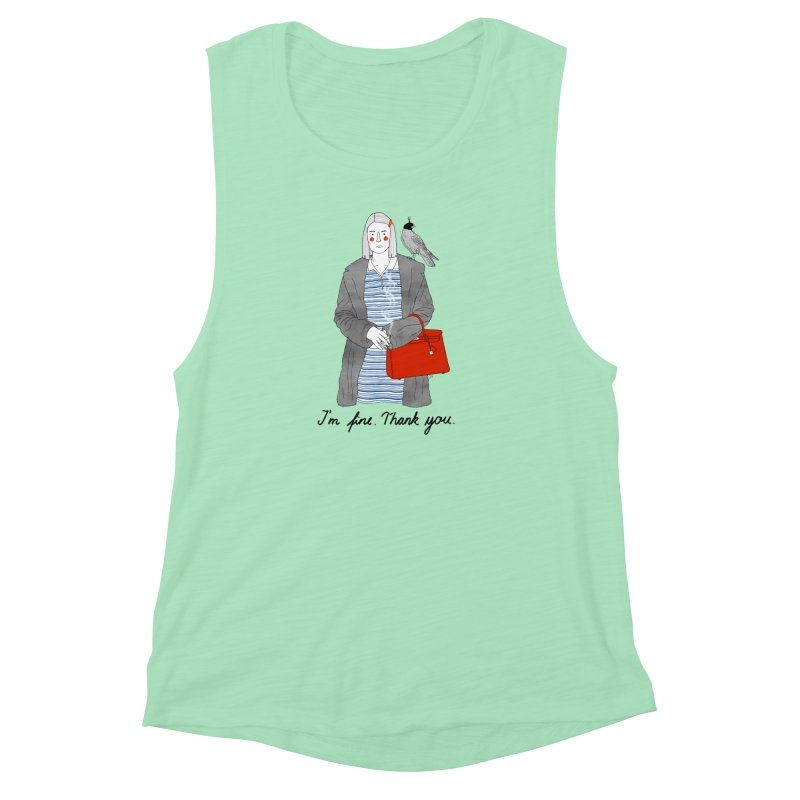 Margot Tenenbaum Women's Muscle Tank by Julia Bernhard