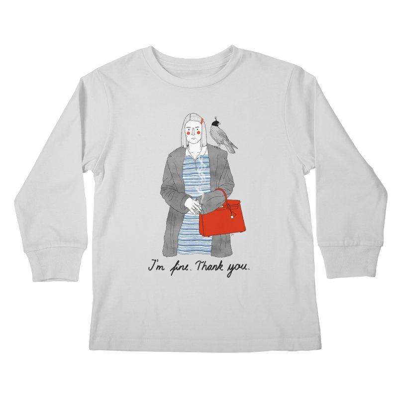 Margot Tenenbaum Kids Longsleeve T-Shirt by Julia Bernhard