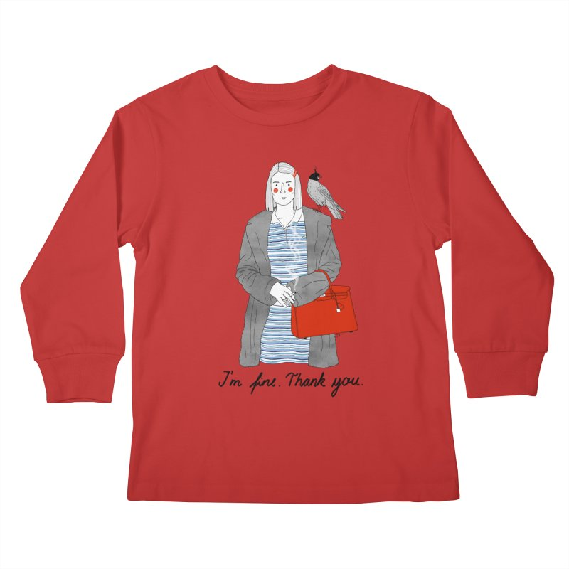Margot Tenenbaum Kids Longsleeve T-Shirt by juliabernhard's Artist Shop