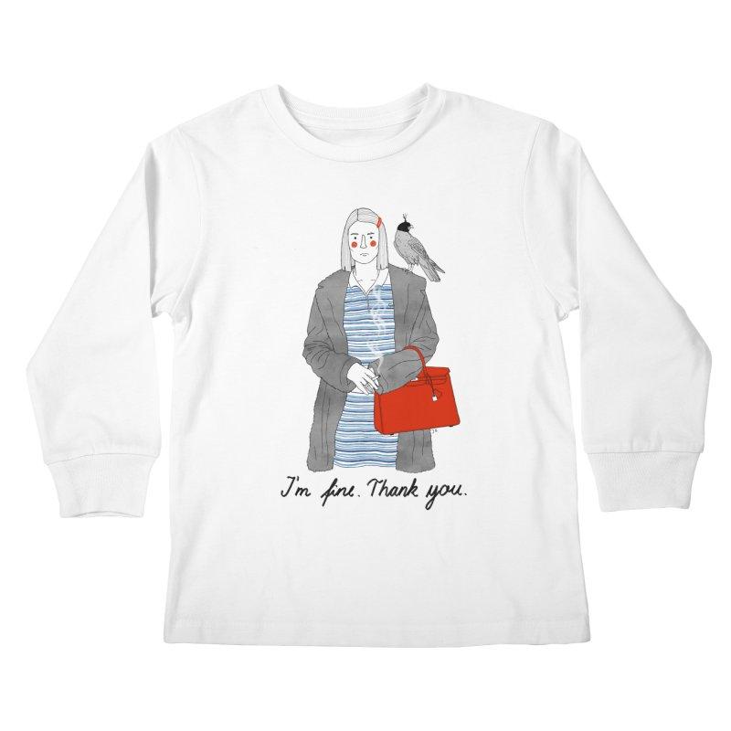 Margot Tenenbaum Kids Longsleeve T-Shirt by juliabernhard's Artist Shop