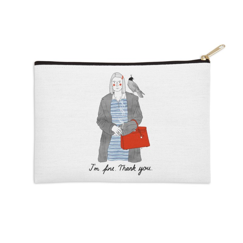 Margot Tenenbaum Accessories Zip Pouch by Julia Bernhard