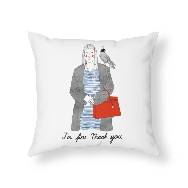 Margot Tenenbaum Home Throw Pillow by juliabernhard's Artist Shop