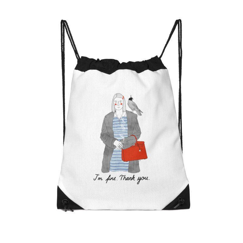Margot Tenenbaum Accessories Drawstring Bag Bag by Julia Bernhard