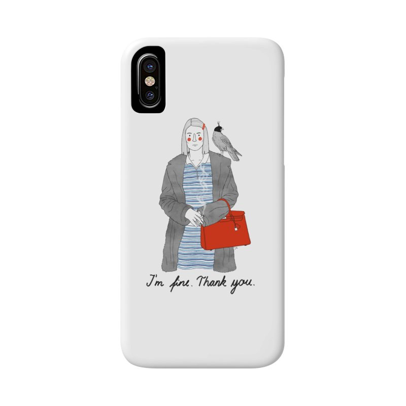Margot Tenenbaum Accessories Phone Case by juliabernhard's Artist Shop