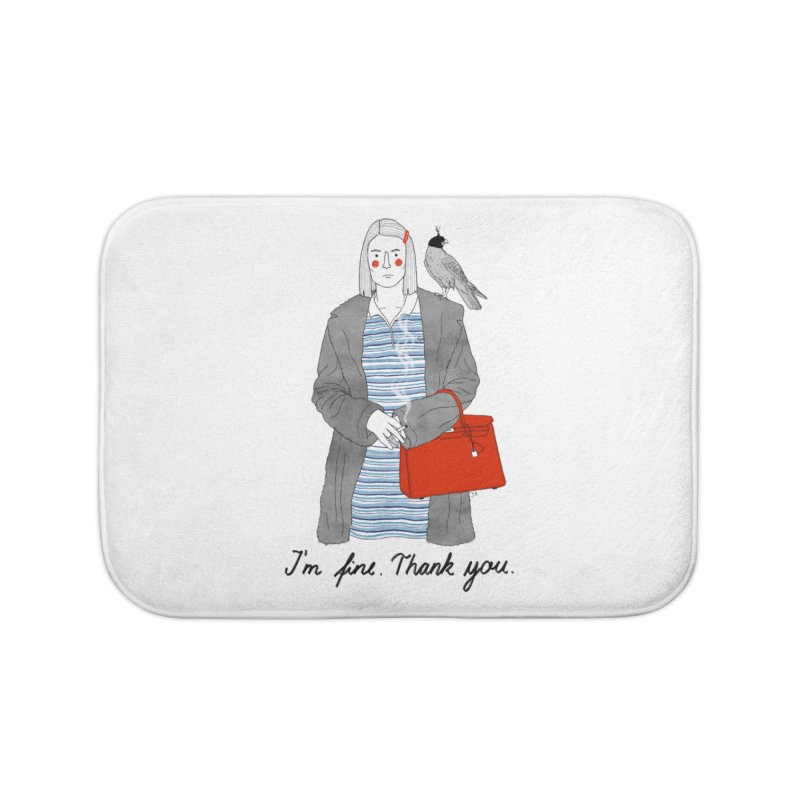 Margot Tenenbaum Home Bath Mat by juliabernhard's Artist Shop