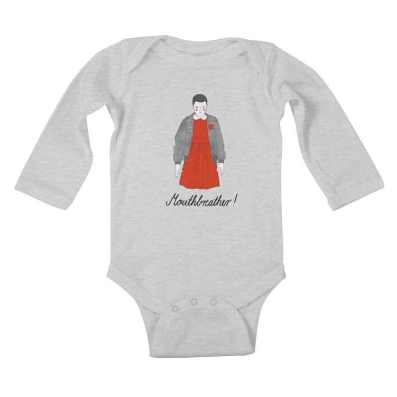 Stranger Things Kids Baby Longsleeve Bodysuit by Julia Bernhard