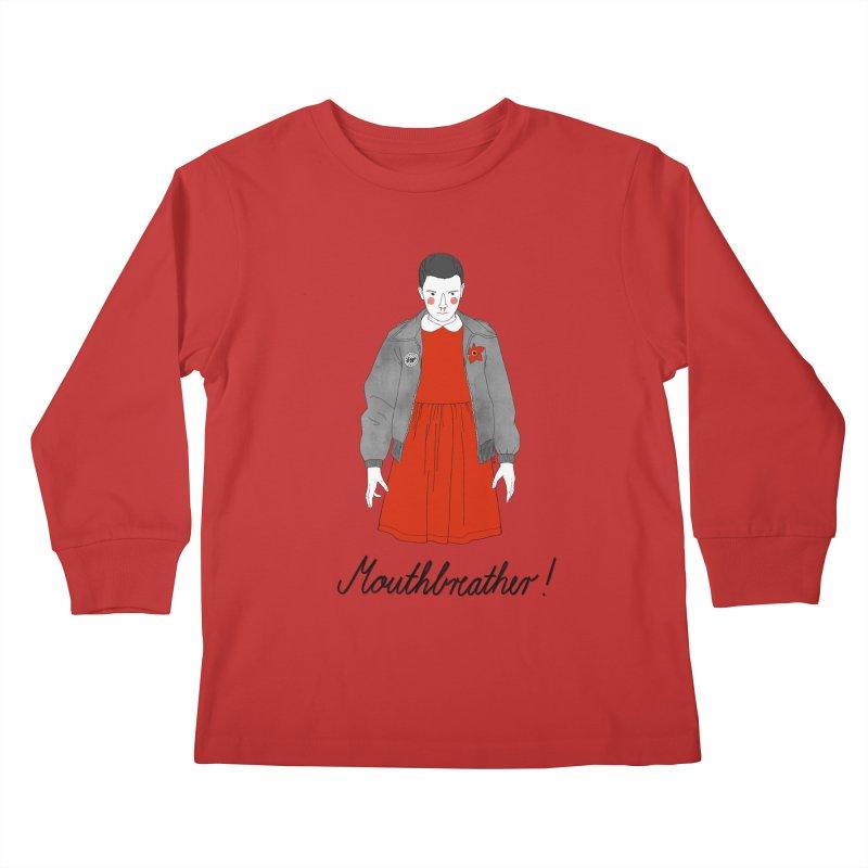 Stranger Things Kids Longsleeve T-Shirt by Julia Bernhard