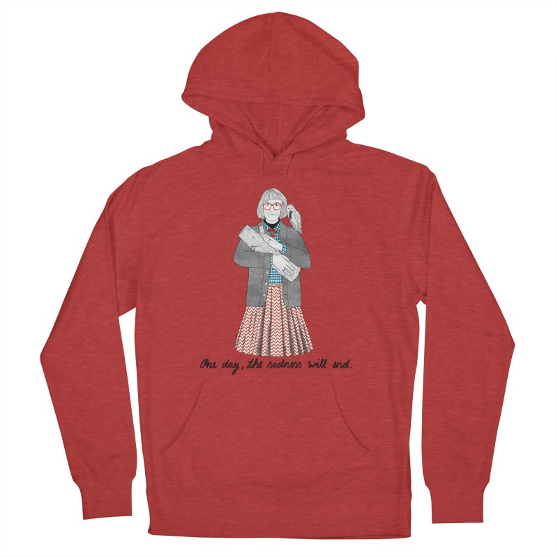 The Log Lady Men's French Terry Pullover Hoody by juliabernhard's Artist Shop