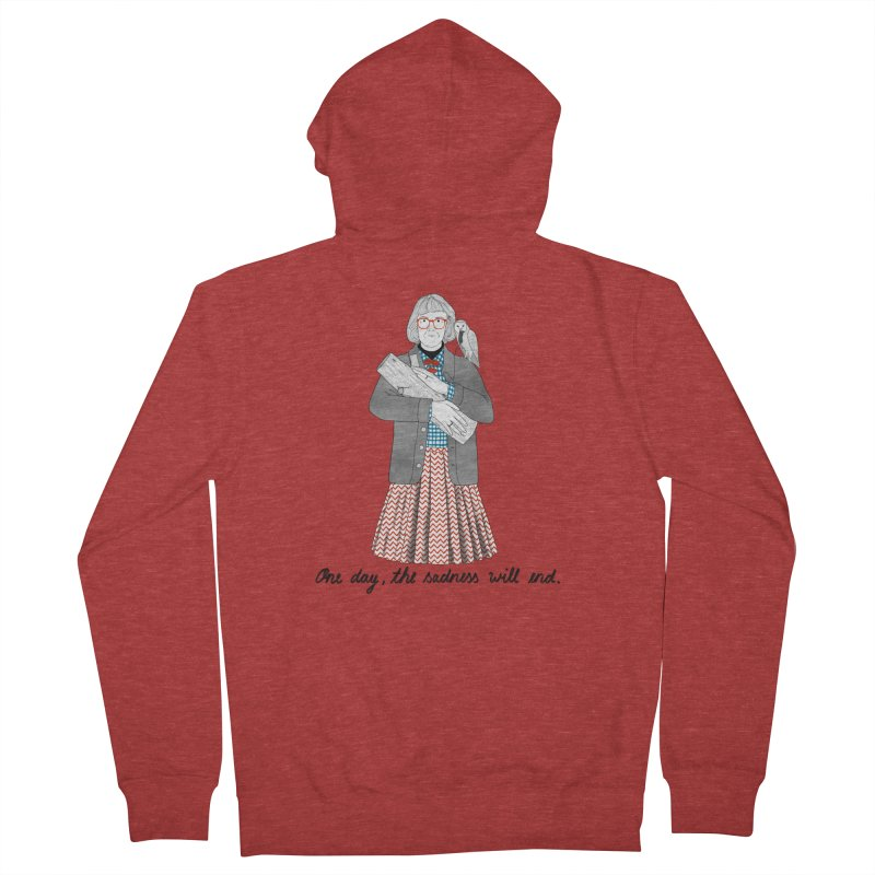 The Log Lady Women's French Terry Zip-Up Hoody by Julia Bernhard