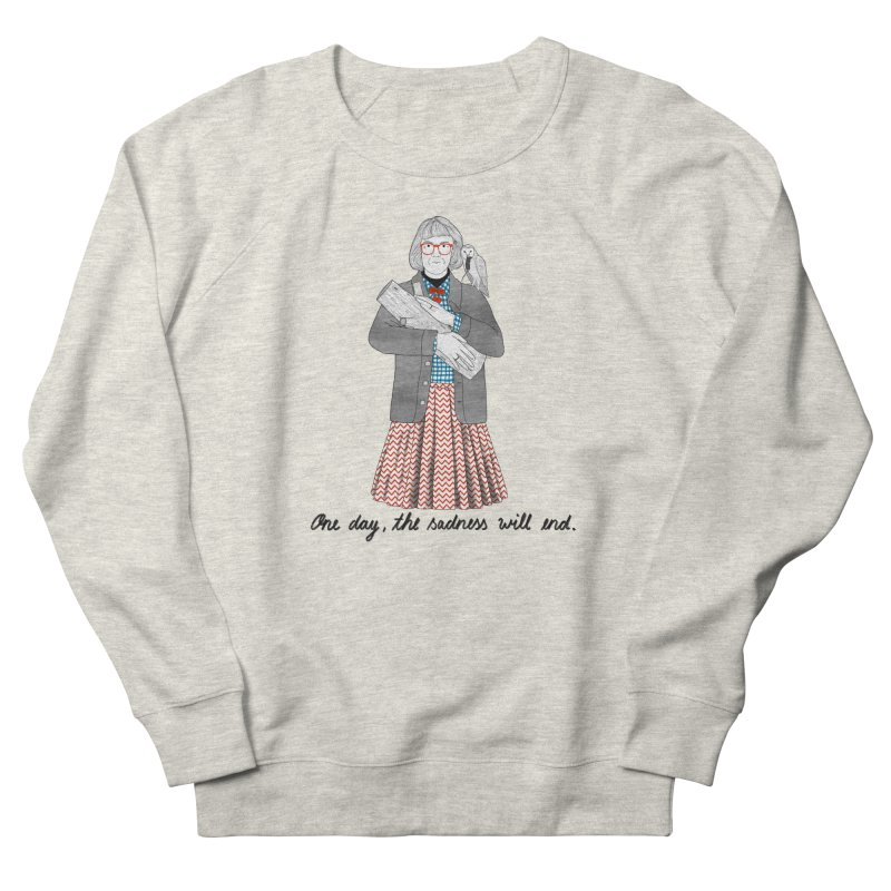 The Log Lady Men's French Terry Sweatshirt by Julia Bernhard