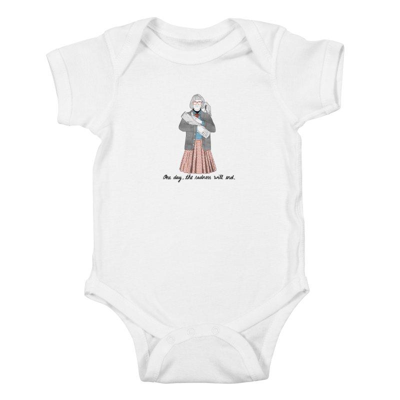 The Log Lady Kids Baby Bodysuit by Julia Bernhard