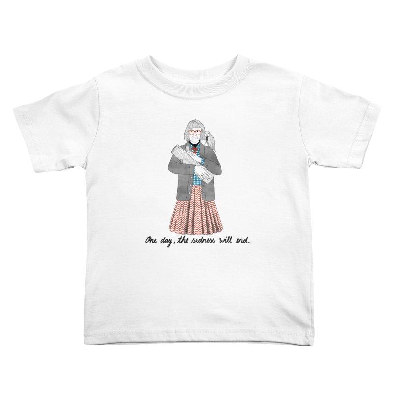 The Log Lady Kids Toddler T-Shirt by Julia Bernhard