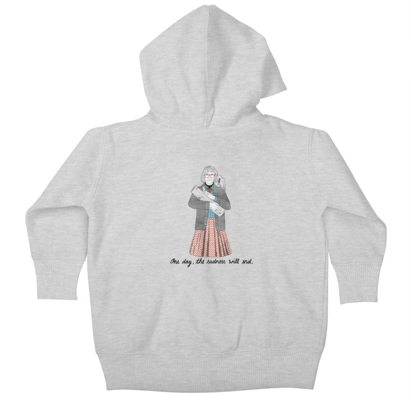 The Log Lady Kids Baby Zip-Up Hoody by juliabernhard's Artist Shop
