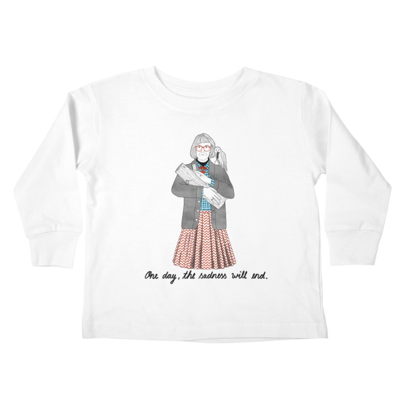 The Log Lady Kids Toddler Longsleeve T-Shirt by Julia Bernhard