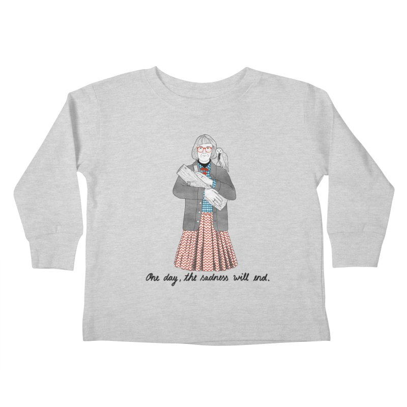 The Log Lady Kids Toddler Longsleeve T-Shirt by juliabernhard's Artist Shop