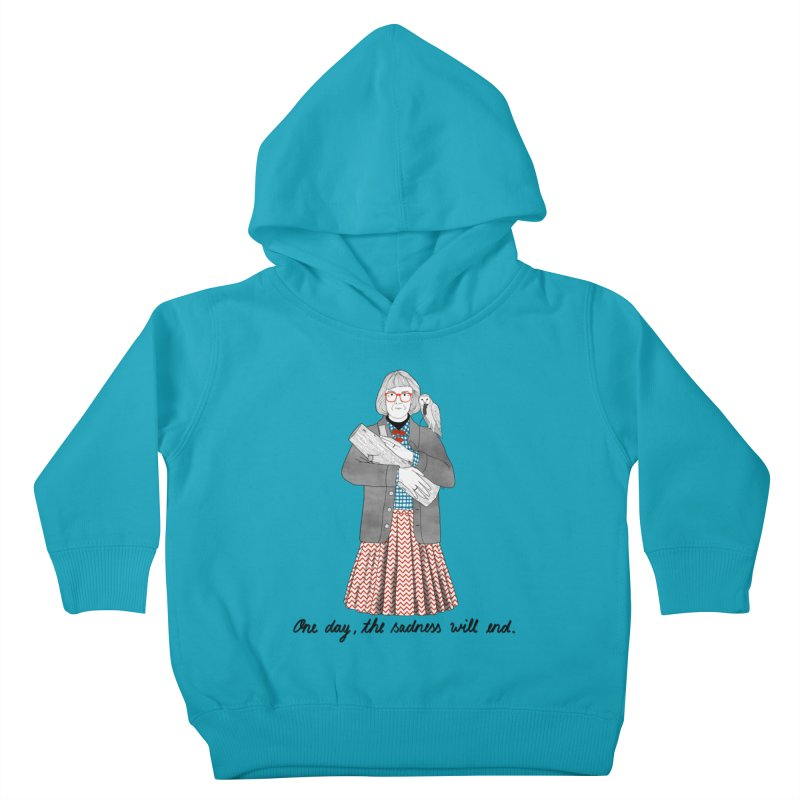 The Log Lady Kids Toddler Pullover Hoody by Julia Bernhard