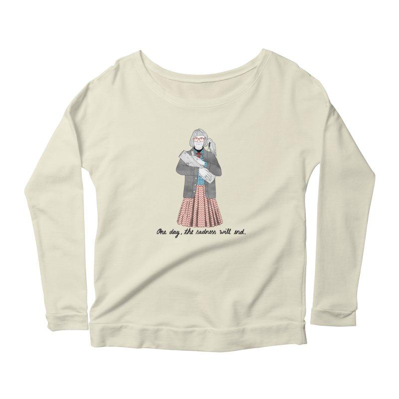 The Log Lady Women's Scoop Neck Longsleeve T-Shirt by juliabernhard's Artist Shop