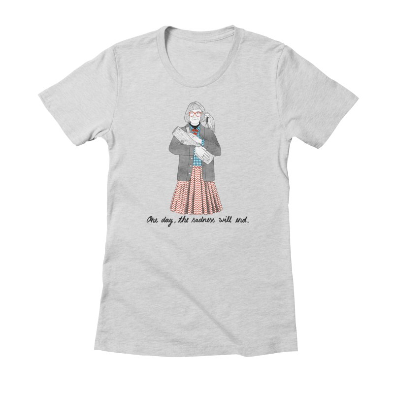 The Log Lady Women's Fitted T-Shirt by Julia Bernhard