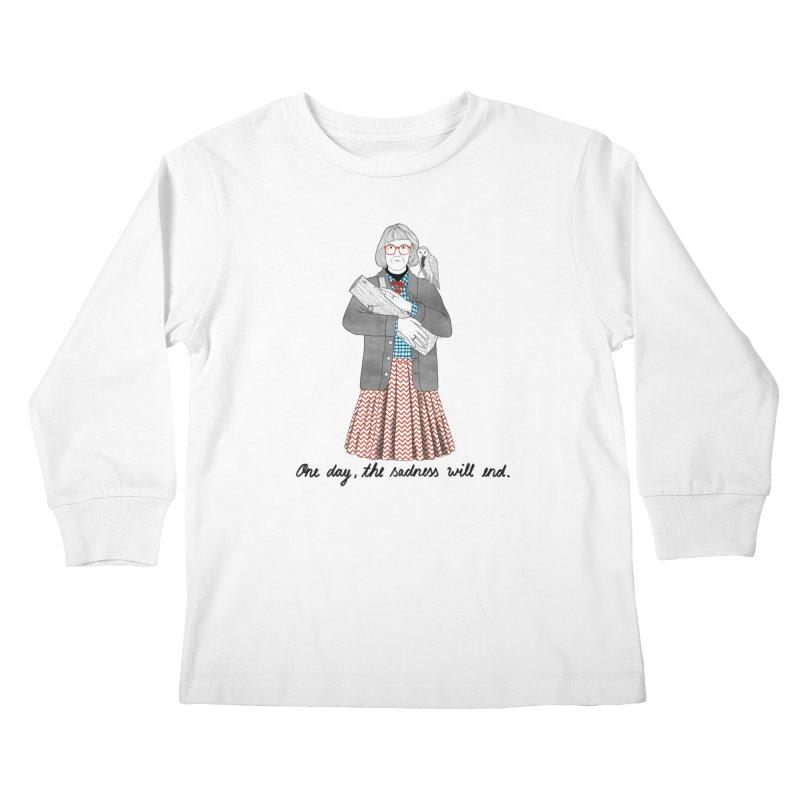 The Log Lady Kids Longsleeve T-Shirt by Julia Bernhard