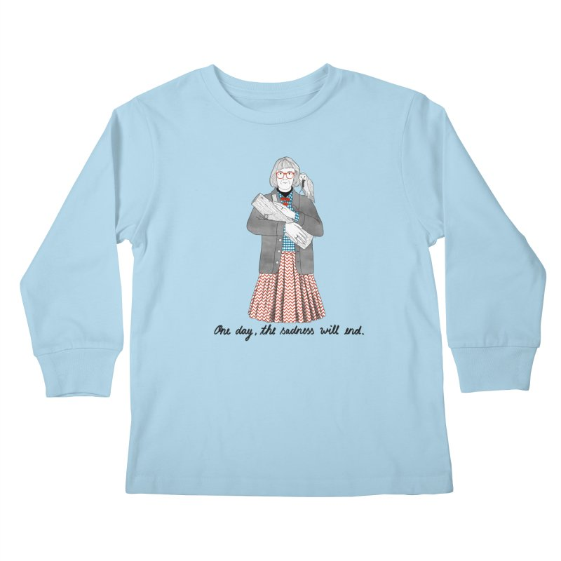 The Log Lady Kids Longsleeve T-Shirt by juliabernhard's Artist Shop