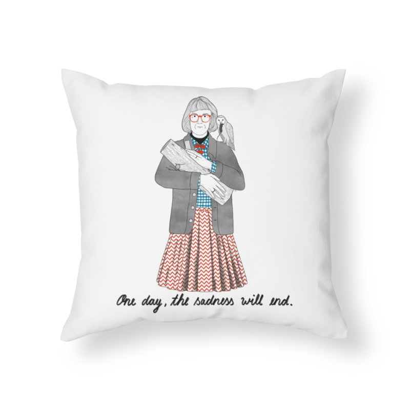 The Log Lady Home Throw Pillow by Julia Bernhard