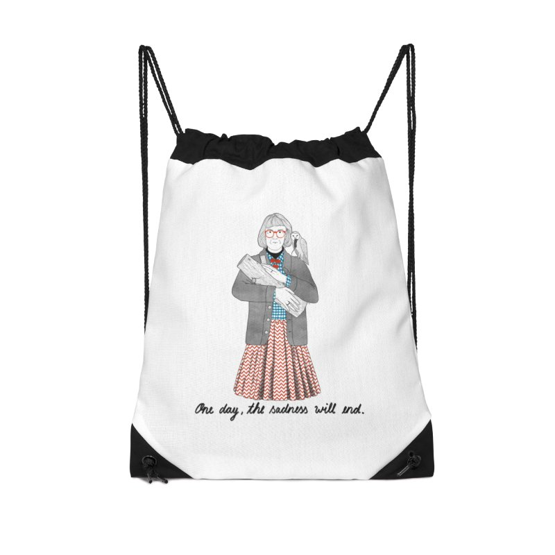 The Log Lady Accessories Drawstring Bag Bag by Julia Bernhard