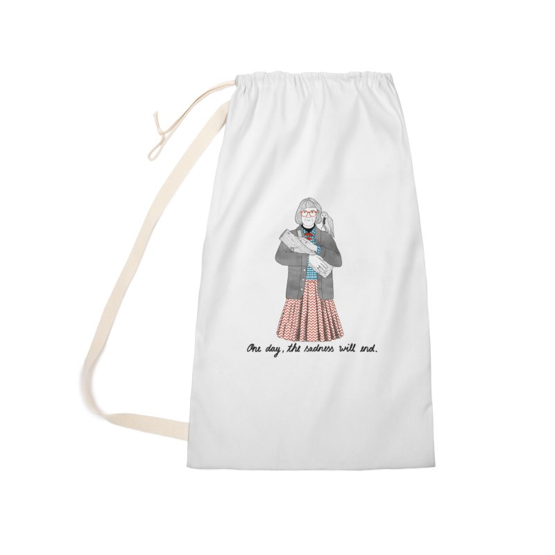 The Log Lady Accessories Laundry Bag Bag by Julia Bernhard