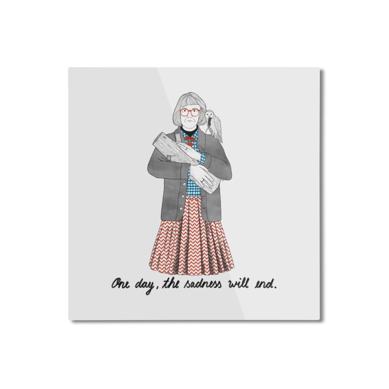 The Log Lady Home Mounted Aluminum Print by juliabernhard's Artist Shop
