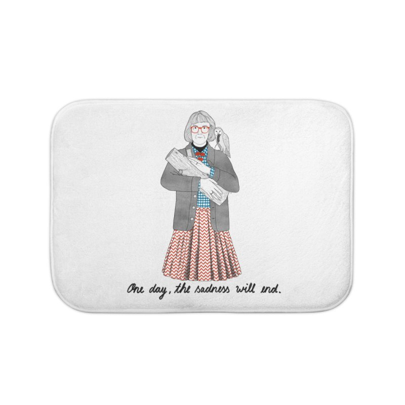 The Log Lady Home Bath Mat by juliabernhard's Artist Shop