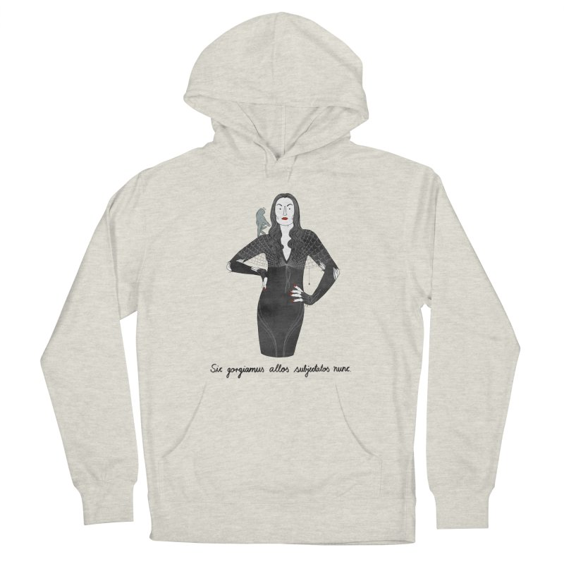 Morticia Addams Women's French Terry Pullover Hoody by Julia Bernhard