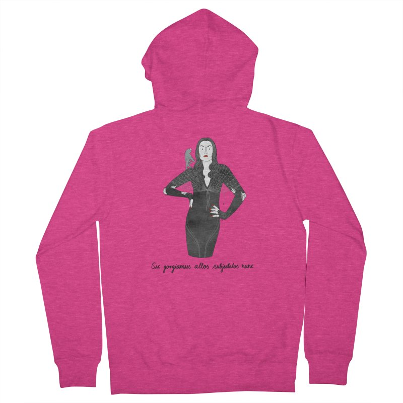 Morticia Addams Women's French Terry Zip-Up Hoody by juliabernhard's Artist Shop