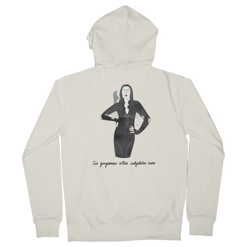 Morticia Addams Men's French Terry Zip-Up Hoody by juliabernhard's Artist Shop