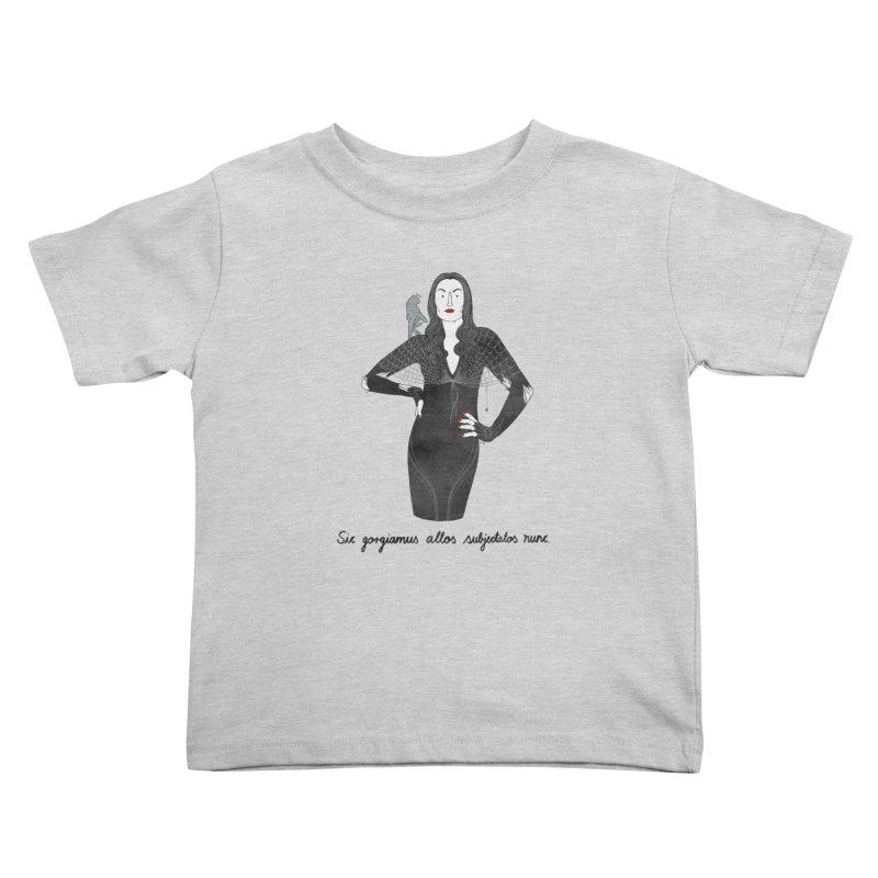 Morticia Addams Kids Toddler T-Shirt by Julia Bernhard