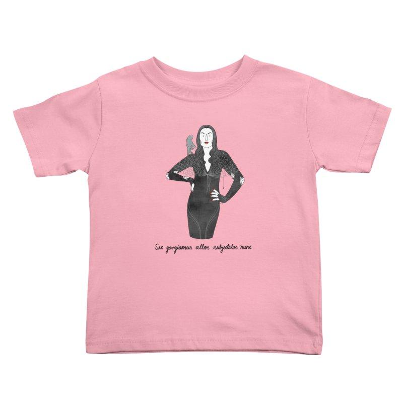 Morticia Addams Kids Toddler T-Shirt by juliabernhard's Artist Shop