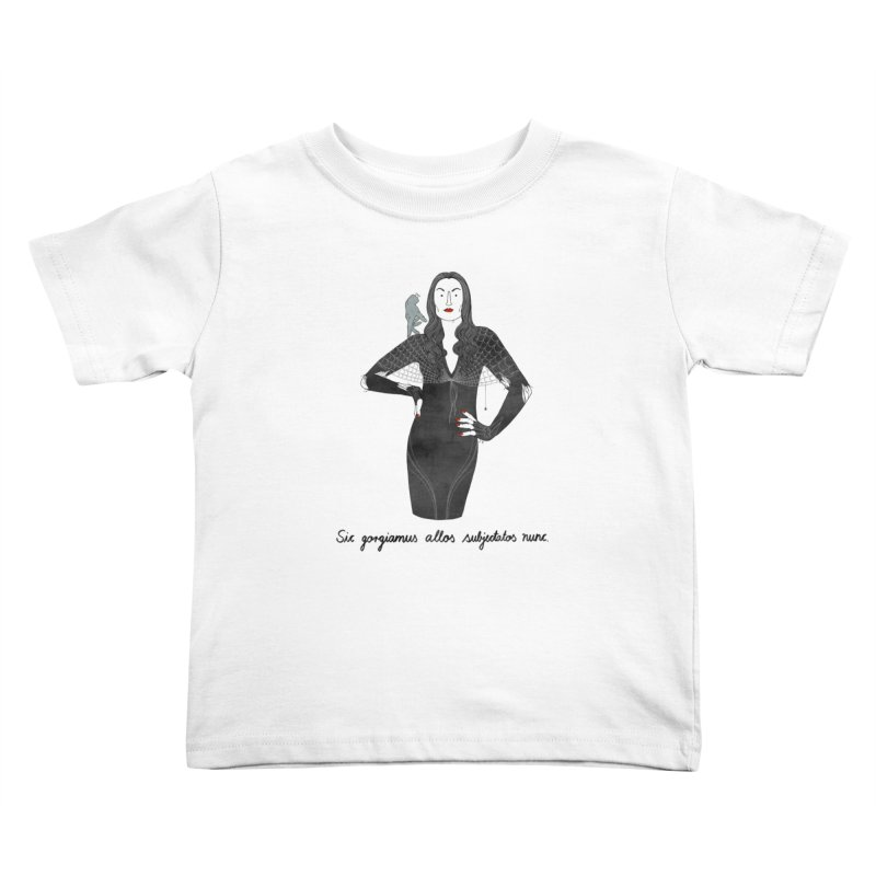 Morticia Addams Kids Toddler T-Shirt by juliabernhard's Artist Shop