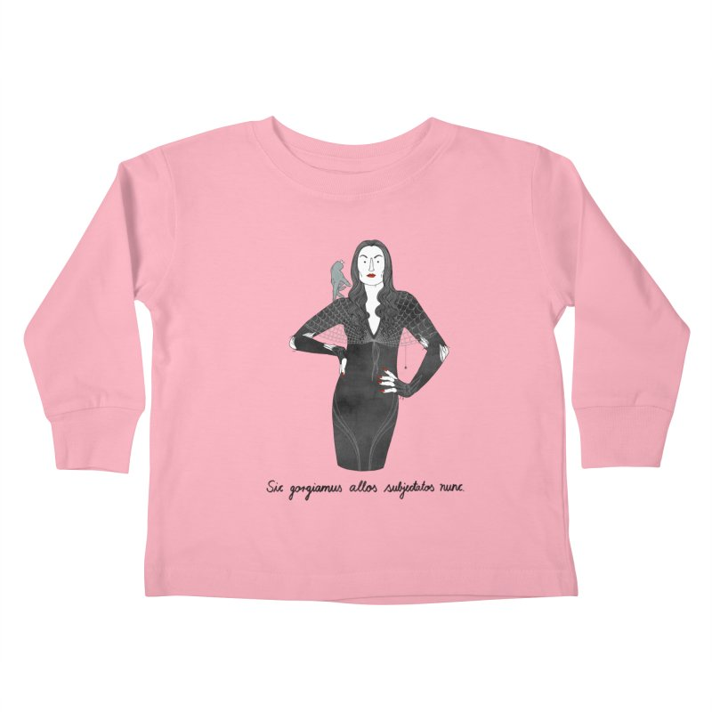 Morticia Addams Kids Toddler Longsleeve T-Shirt by juliabernhard's Artist Shop