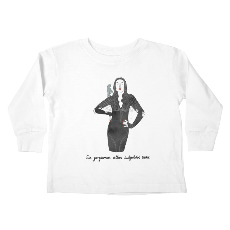 Morticia Addams Kids Toddler Longsleeve T-Shirt by Julia Bernhard