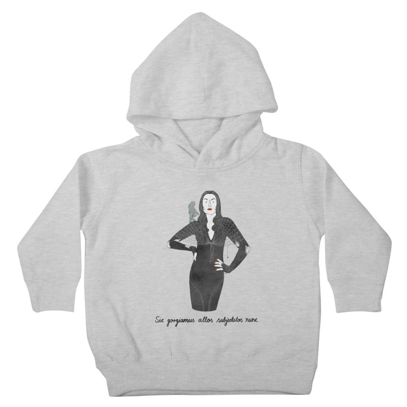 Morticia Addams Kids Toddler Pullover Hoody by Julia Bernhard