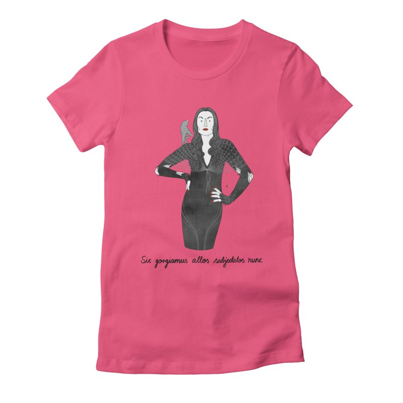Morticia Addams Women's Fitted T-Shirt by juliabernhard's Artist Shop