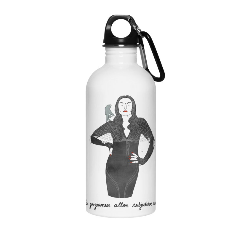 Morticia Addams Accessories Water Bottle by juliabernhard's Artist Shop
