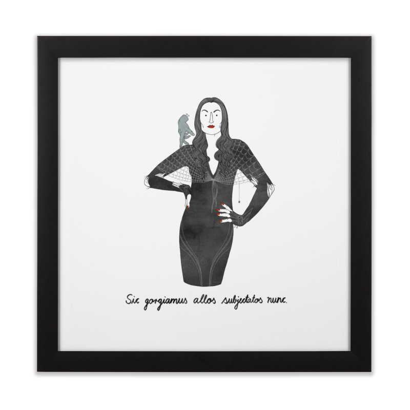 Morticia Addams Home Framed Fine Art Print by Julia Bernhard