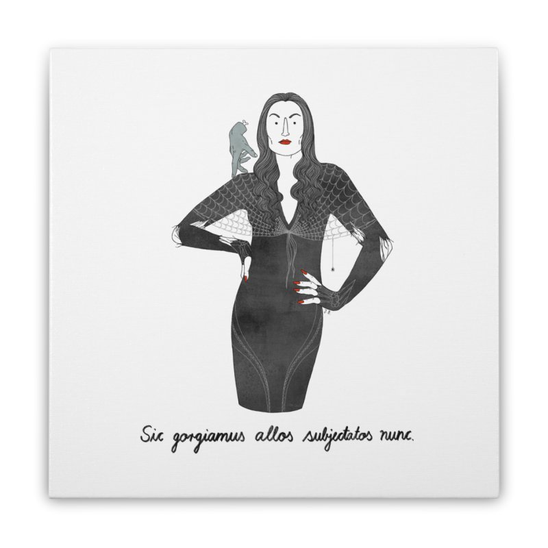 Morticia Addams Home Stretched Canvas by juliabernhard's Artist Shop