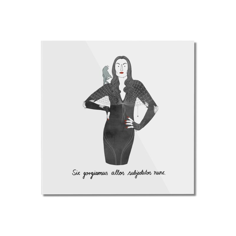 Morticia Addams Home Mounted Acrylic Print by Julia Bernhard