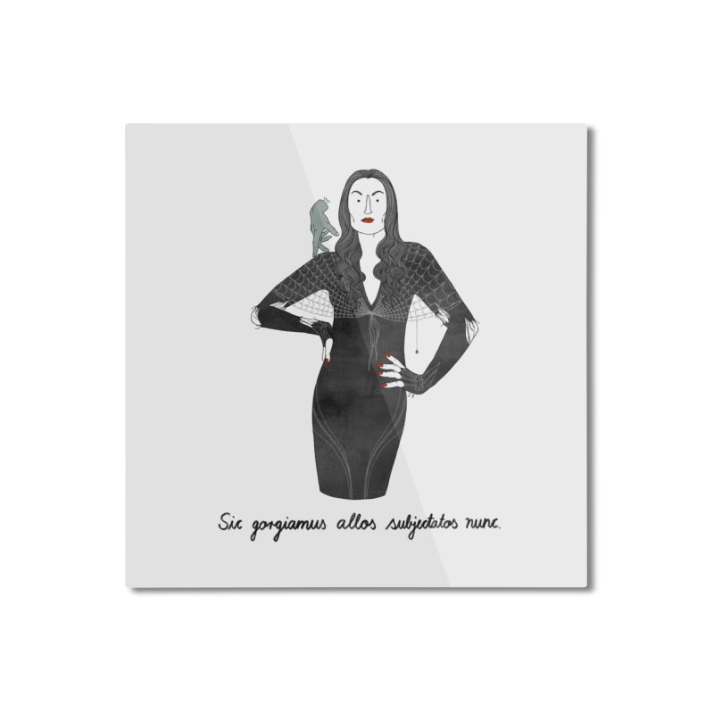 Morticia Addams Home Mounted Aluminum Print by juliabernhard's Artist Shop