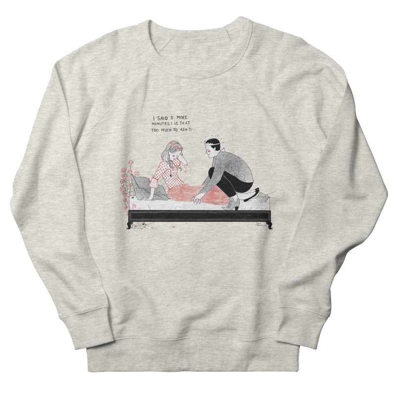 Sleeping Beauty Men's French Terry Sweatshirt by Julia Bernhard