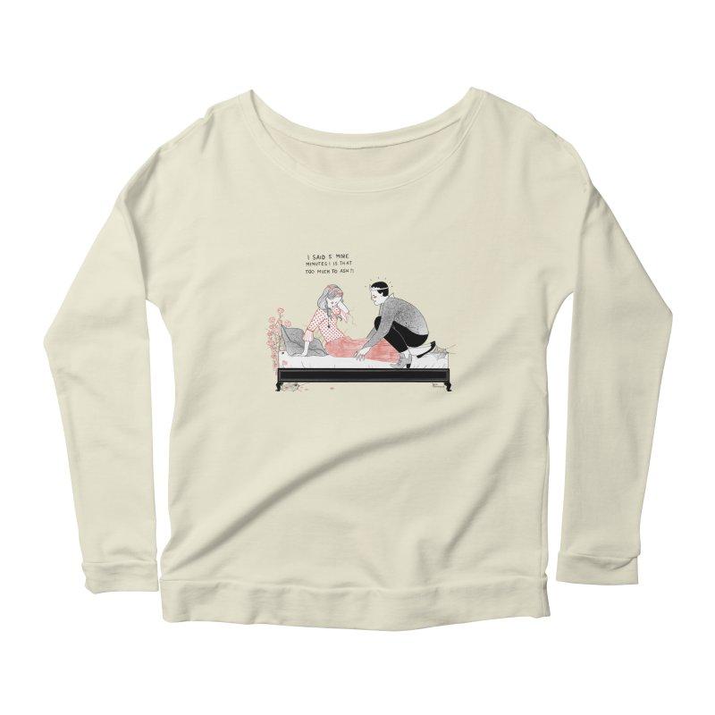 Sleeping Beauty Women's Scoop Neck Longsleeve T-Shirt by Julia Bernhard